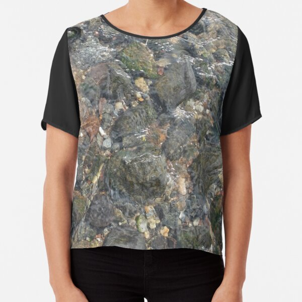 #geology #stone #nature #water #rough #outdoors #abstract #pattern #vertical #rockobject #textured #nopeople #planetearth #colors #day Chiffon Top