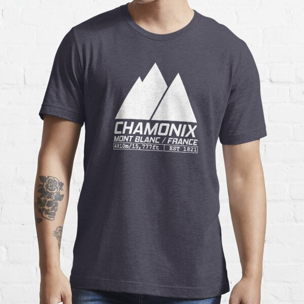 Chamonix France Station de ski Mont Blanc Ski T-shirt essentiel