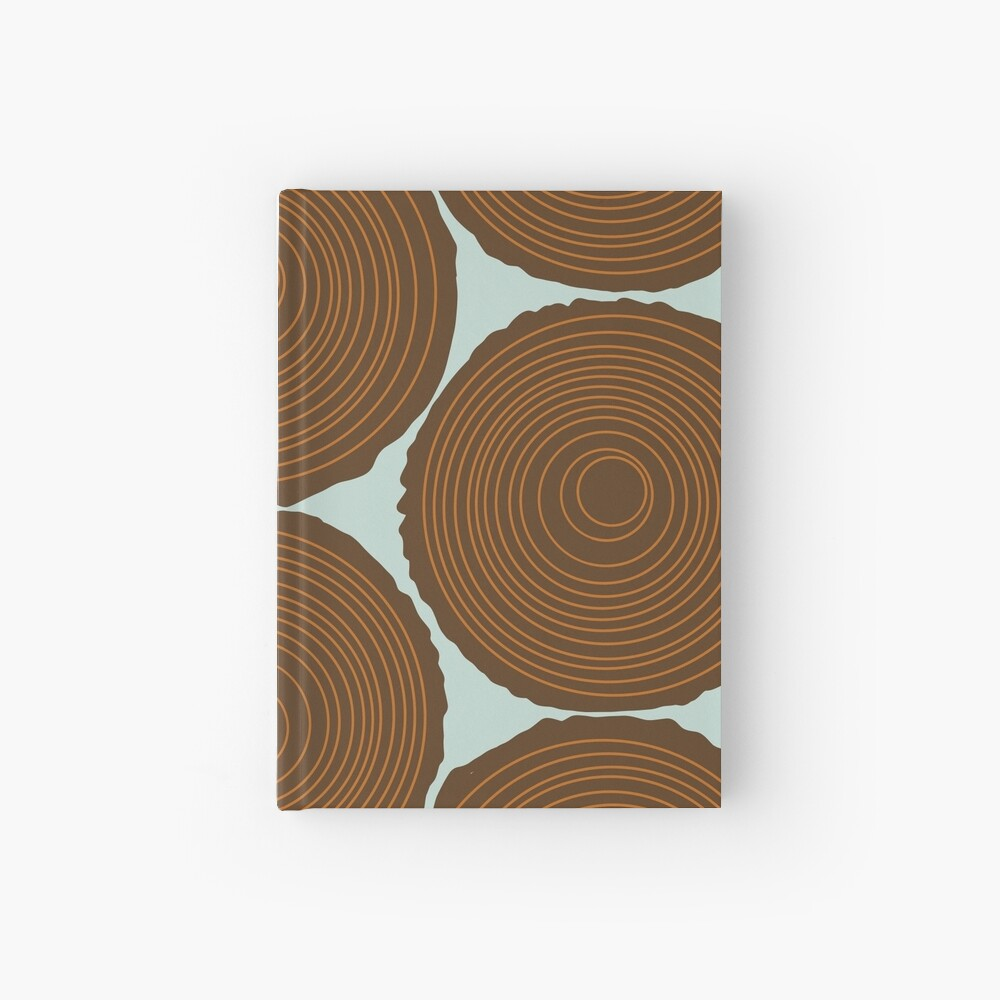 Whimsical Wood Stack Hardcover Journal