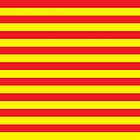 Horizontal stripes red and yellow by DisorderShop
