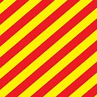 Diagonal stripes red and yellow by DisorderShop