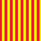 Vertical stripes red and yellow by DisorderShop