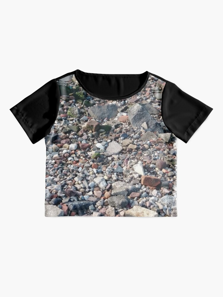Alternate view of #rubble #pebble #scrap #stone #garbage #gravel #many #dust #litter #environment #pollution #broken #vertical #rockobject #stack #heap #textile #abundance #destruction Chiffon Top
