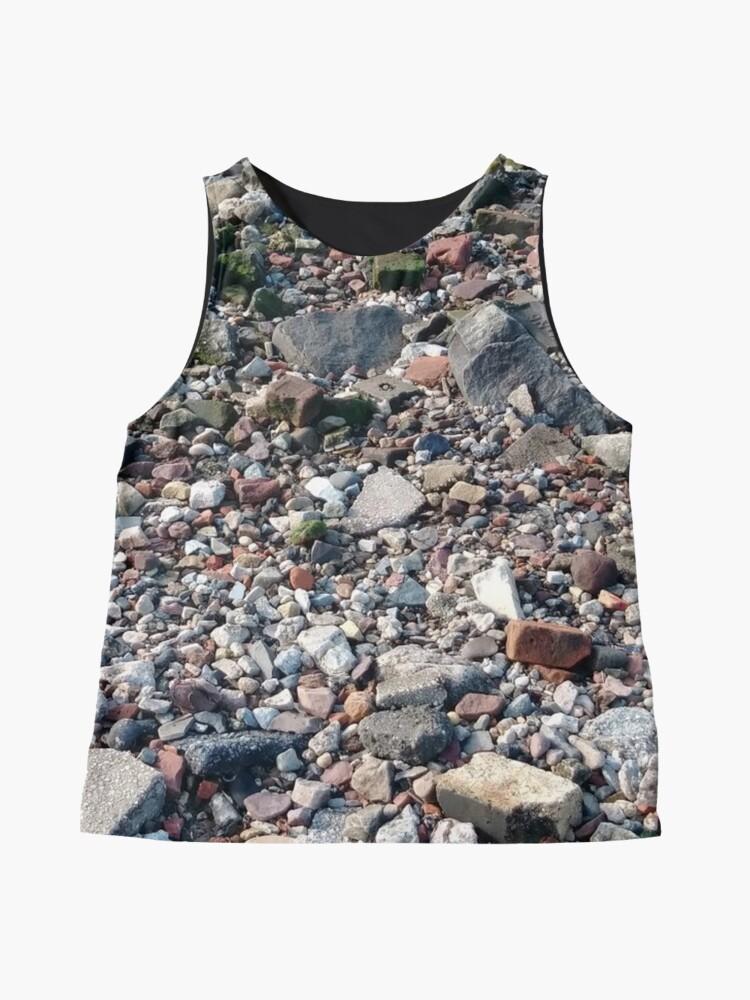 Alternate view of #rubble #pebble #scrap #stone #garbage #gravel #many #dust #litter #environment #pollution #broken #vertical #rockobject #stack #heap #textile #abundance #destruction Sleeveless Top