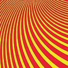 Pattern with abstract red and yellow stripes by DisorderShop