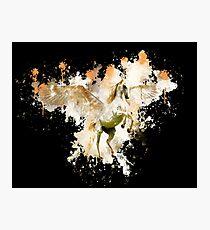 Unicorn fantasy horse watercolor painted Photographic Print