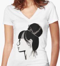 Françoise Women's Fitted V-Neck T-Shirt
