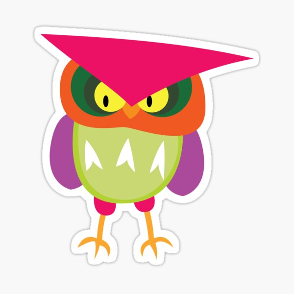 Colorful Angry Owl Sticker