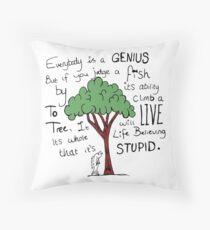 """""""Einstein's Fish"""" Throw Pillow"""