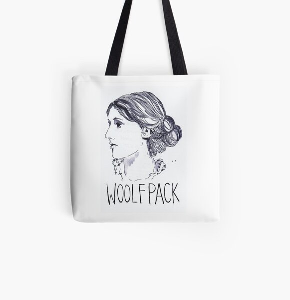Virginia Woolfpack All Over Print Tote Bag