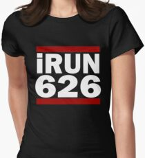 I Run 626 area code Design Pasadena Running Design Gift Women's Fitted T-Shirt