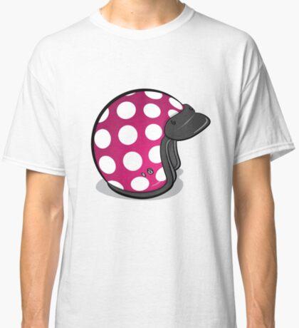 Retro Mod Crash Helmet - Polka Dot Classic T-Shirt