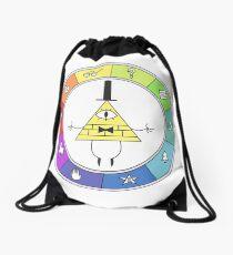 Rainbow Bill Cipher Wheel Drawstring Bag