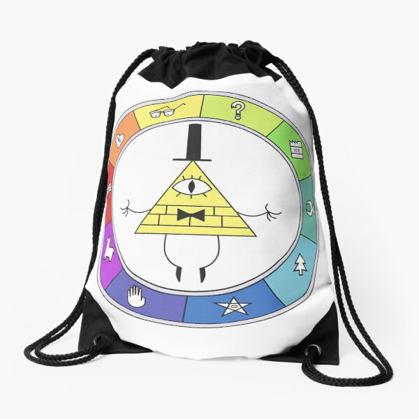 Rainbow Bill Cipher Wheel Mochila saco