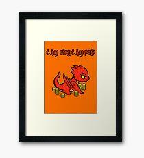 Chibi Smaug Framed Print