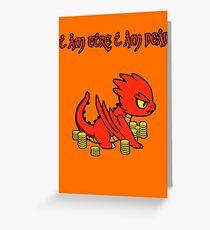 Chibi Smaug Greeting Card
