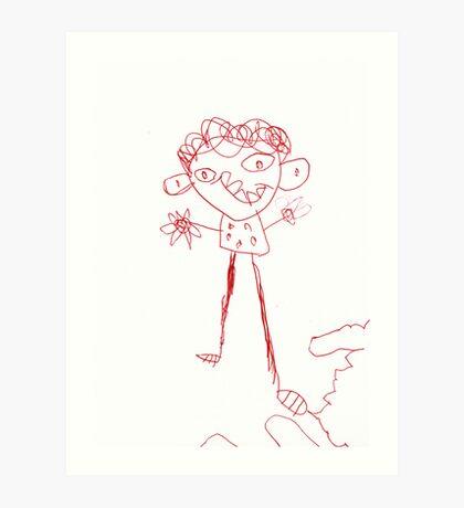 A boy... Art Print