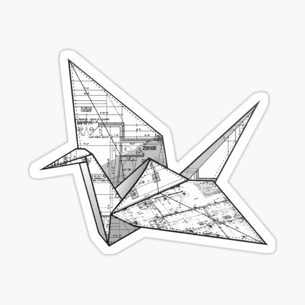 Origami crane Sticker