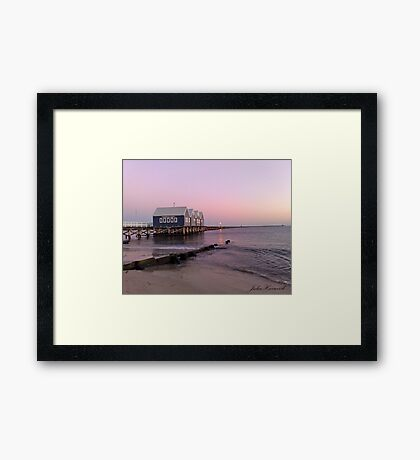 Busselton Jetty at Dawn Framed Print