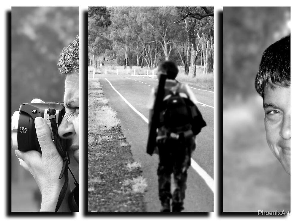 Triptych - Self Portrait by PhoenixArt