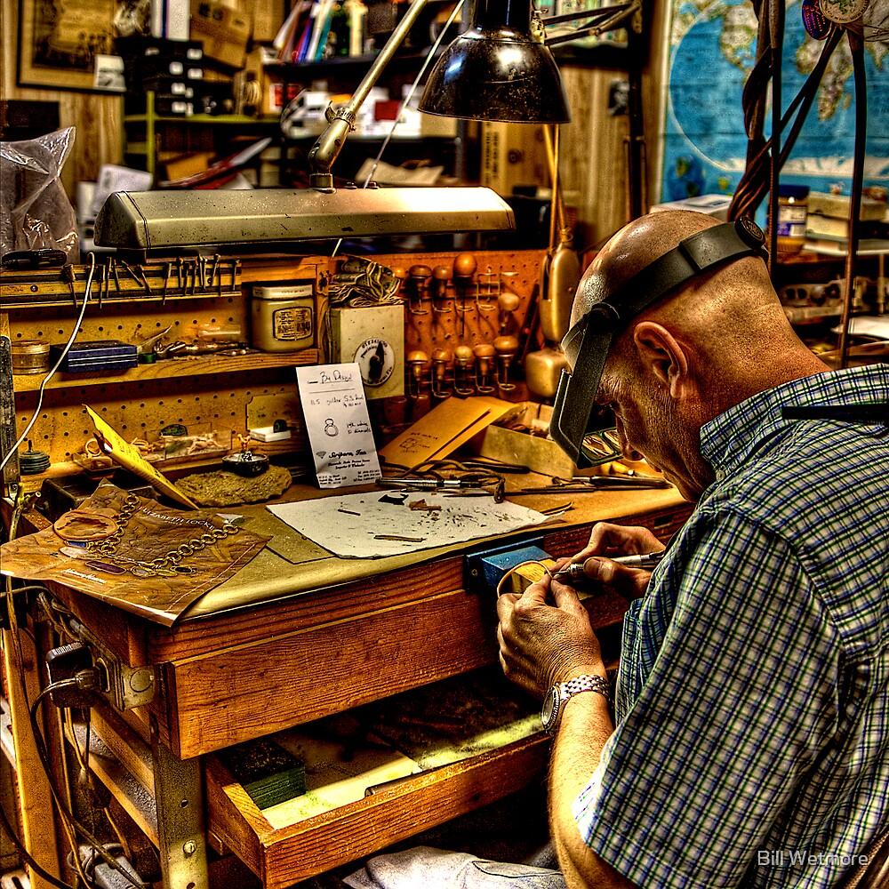 Watchmaker & Workbench by Bill Wetmore