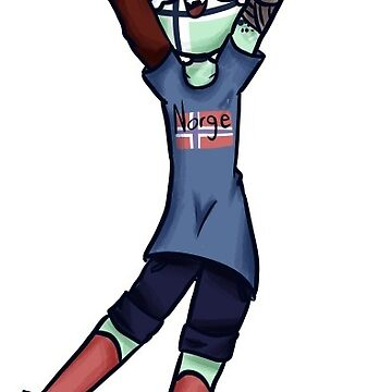 Happy Icedell - OC (countryhumans) by Norway-Addict