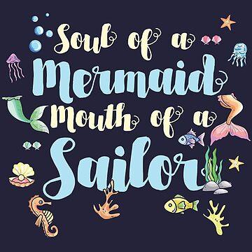 Mermaid Water Sea Horse Fish Jellyfish Shell Gift by Sandra78