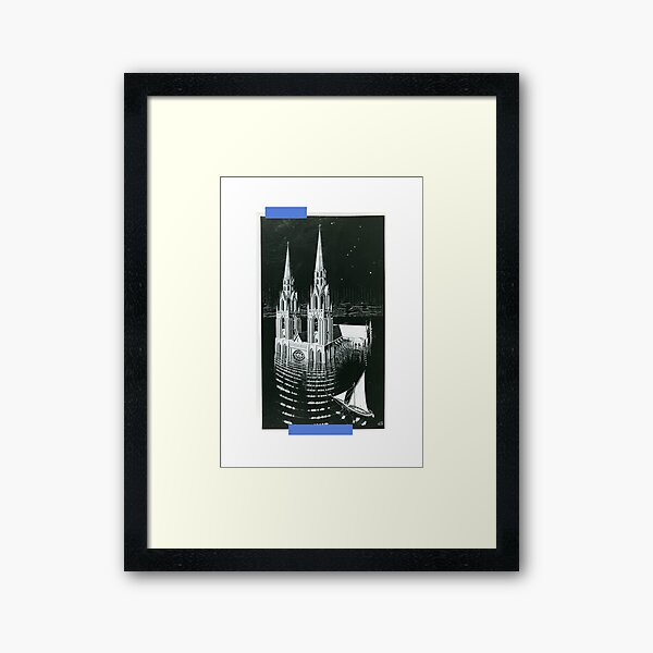 ''The Drowned Cathedral'' Framed Art Print