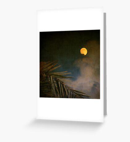Florida Moon Greeting Card