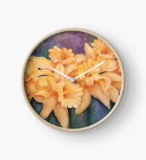 Gorgeous Yellow Daffodils Clock