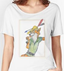 Cartoon Robin Hood  Women's Relaxed Fit T-Shirt