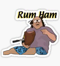 "It's Always Sunny in Philadelphia- Frank Reynolds ""Rum Ham"" Sticker"