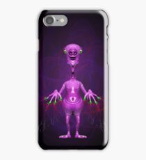 Fun Pink Alien Telepathic Power iPhone Case/Skin