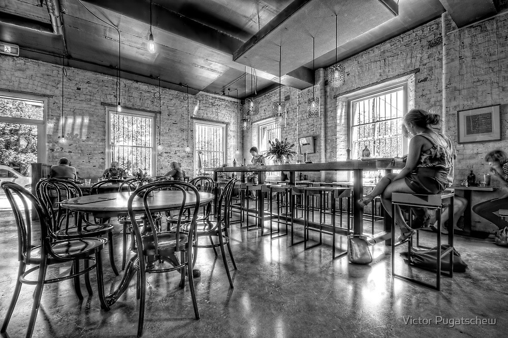 Three Bags Full Cafe by Victor Pugatschew