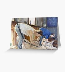 Boxing Day Shearers (extract) Greeting Card