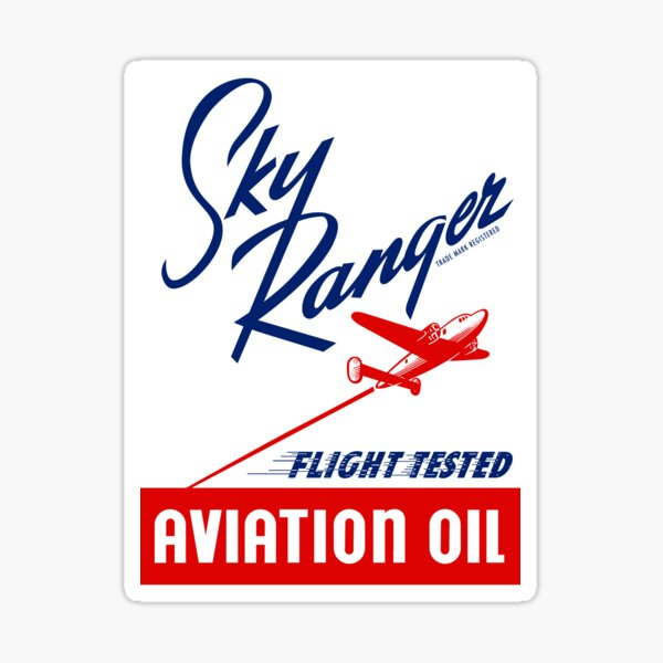 Sky Ranger Flight Tested Aviation Oil Sticker