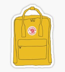 Yellow Backpack Sticker