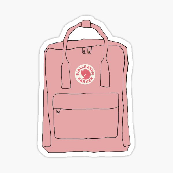 Pink Backpack Sticker