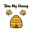Cute and Sweet Bee My Honey Beehive Light-Color by TinyStarAmerica