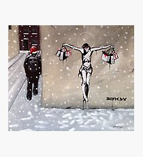 Happy Christmas from Banksy Photographic Print