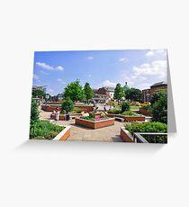 Corporation Street Garden, Derby Greeting Card