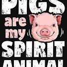 Schweine sind mein Geisttiert-shirt Schwein-Liebhaber-Bauernhof-Mädchen-Geschenk von LiqueGifts