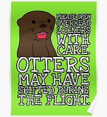 Otters may have shifted during the flight. Poster