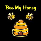 Cute and Sweet Bee My Honey Beehive Dark Color by TinyStarAmerica