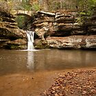Upper Falls and Walking Bridge - Hocking Hills by Shannon Workman