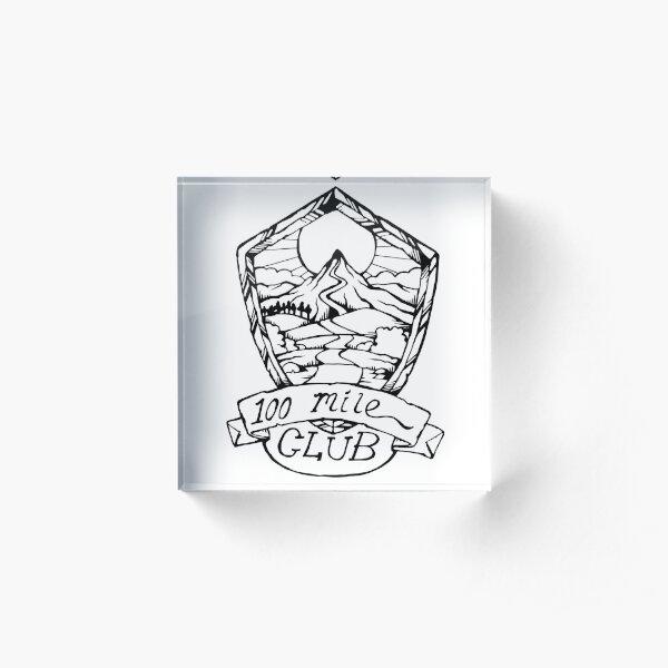 100 Mile Club Emblem Acrylic Block