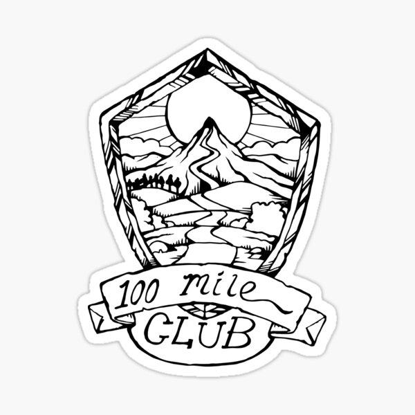 100 Mile Club Emblem Sticker