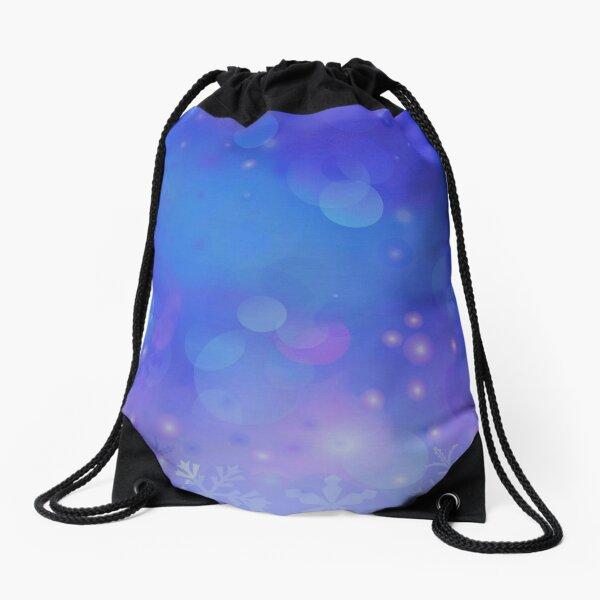 Winter Flowing Drawstring Bag