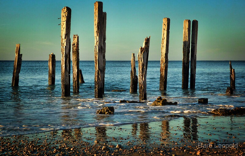 The jetty ruins at port willunga by barb leopold redbubble for Port willunga