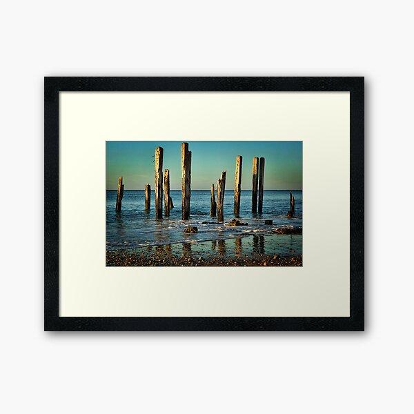The Jetty Ruins at Port Willunga Framed Art Print